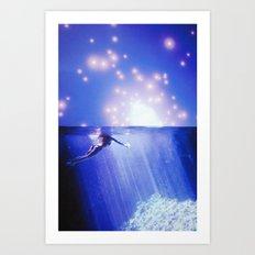 Starlight Swim Art Print