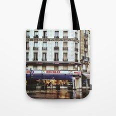Rain in Paris Tote Bag