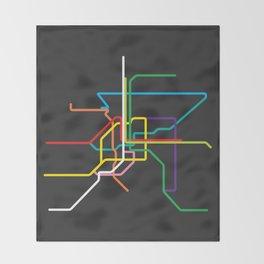 bangkok metro map Throw Blanket