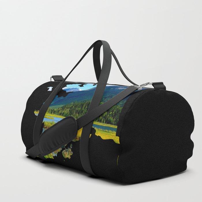Alaska Outline - God's_Country Duffle Bag