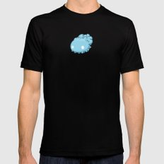 Marshmallow Blob Mens Fitted Tee Black MEDIUM