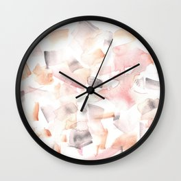 180515 Abstract Watercolour Wp 16  | Watercolor Brush Strokes Wall Clock