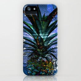Silver Leaf Tropical Pineapple #buyart iPhone Case