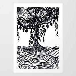 Henna Design 9 (Tree of Life) Art Print