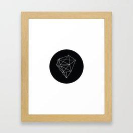Monochrome Heart Framed Art Print