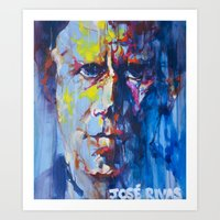 tom waits Art Prints featuring Tom Waits by Jose Rivas