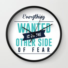 Be Fearless Overcome Your Fear Wall Clock