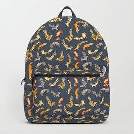 Geckos in black Backpack