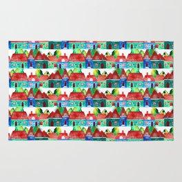 Watercolor houses Rug