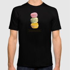 Sweet Macarons MEDIUM Black Mens Fitted Tee