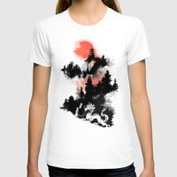 sunset T-shirts featuring A samurai's life by Picomodi