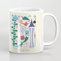 once upon a  time Mugs featuring Once Upon a Time by Abbie Imagine