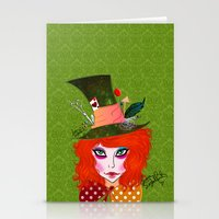 mad hatter Stationery Cards featuring Mad Hatter by Lunah