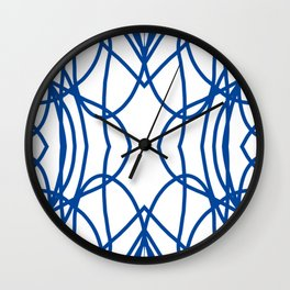 Blue Scribble Wall Clock