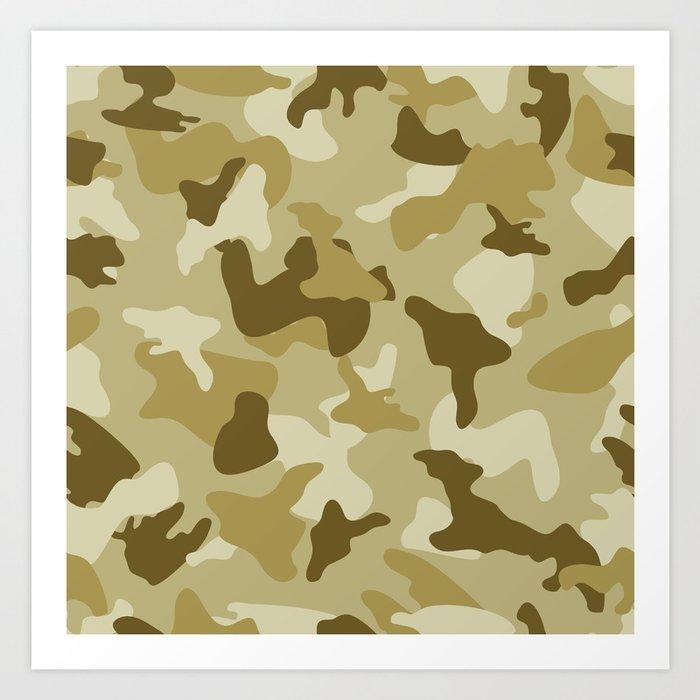 Yellow sand camo camouflage army pattern Art Print by artpics   Society6