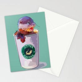 Otter Coffee Stationery Cards
