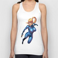 metroid Tank Tops featuring Samus-Metroid  by Deadly Casino Designs