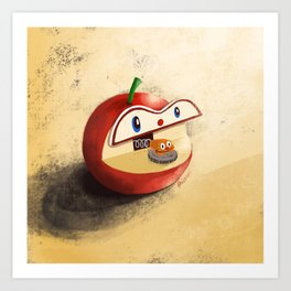 Apple Worm Bank Art Print