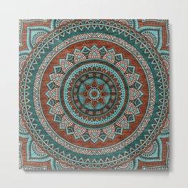 Hippie mandala 50 Metal Print