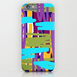 Muted Linear Abstract iPhone Case
