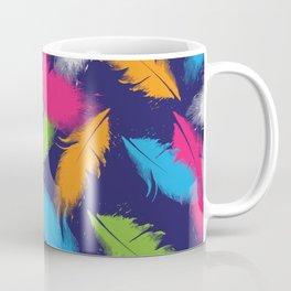 Bright Falling Feathers Coffee Mug