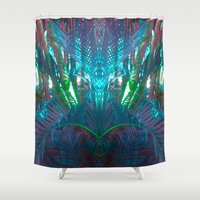 palms Shower Curtains featuring PALMS  by AZZURRO ARTS