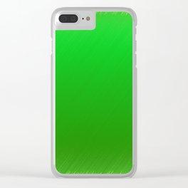 Bright Green Stitch Clear iPhone Case