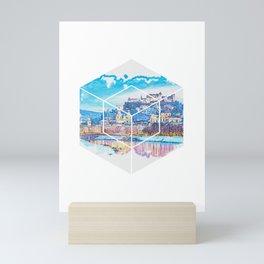 Salzburg known for its Mozartkugeln design Mini Art Print