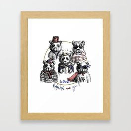 Which Panda are you? Framed Art Print