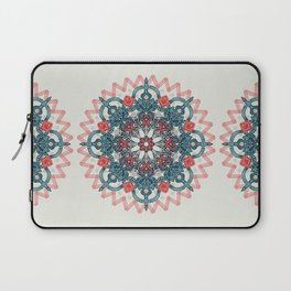 Coral & Teal Tangle Medallion Laptop Sleeve
