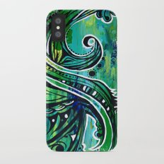 green and blue iPhone X Slim Case