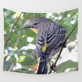 Audubon's Warbler in the Rose Vine Wall Tapestry