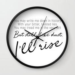I'll rise #minimalism Wall Clock