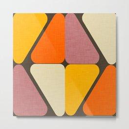 Cube Triangle Mod Yellow Metal Print