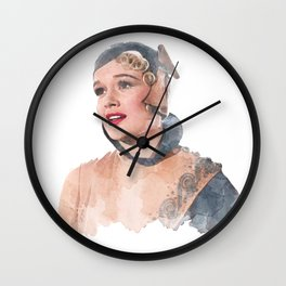 Lina Lamont - Jean Hagen - Singin' in the Rain - Watercolor Wall Clock