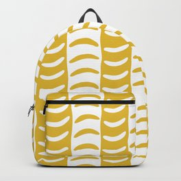 Wavy Stripes Mustard Yellow Backpack