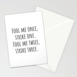 Strike Three Stationery Cards