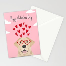 Yellow Lab valentines day labrador retriever dog breed must have gifts retrievers Stationery Cards