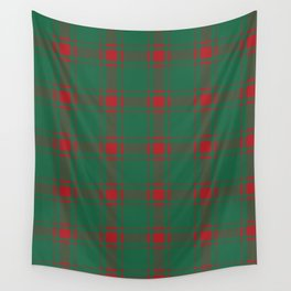 Minimalist Middleton Tartan in Red + Green Wall Tapestry