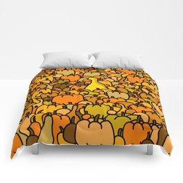 Duck in a Pumpkin Patch Comforters