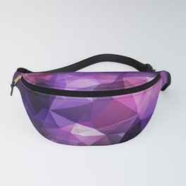 Abstract background of triangles polygon design bright colors Fanny Pack