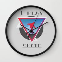skate Wall Clocks featuring Skate by Stefano Messina