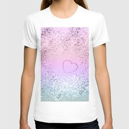 Sparkling UNICORN Girls Glitter Heart #1 #shiny #pastel #decor #art #society6 T-shirt