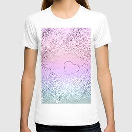 Sparkling UNICORN Girls Glitter Heart #1 #shiny #pastel #decor #art #society6 T-shirt