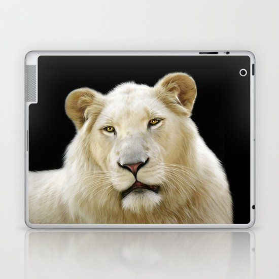 White Lion Laptop & iPad Skin
