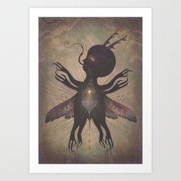 Flight of the Dusk Creature Art Print