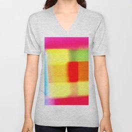 Colored blur background 7 Unisex V-Neck