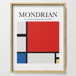 Mondrian - Composition with Red, Blue and Yellow Serving Tray