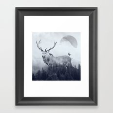 deer autumn Framed Art Print
