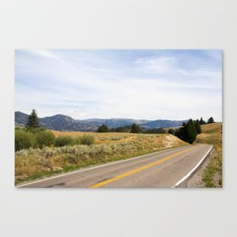 The Road to Yellowstone Canvas Print
